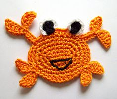 crocheted crab...how cute!
