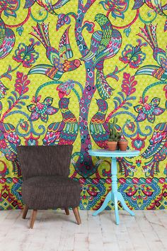 Peacocks and Trees Tapestry / wall hanging or bed cover / $ 39.00 / fits full or queen size {Urban Outfitters}