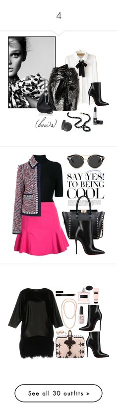"""""""4"""" by danadbbarbu ❤ liked on Polyvore featuring WithChic, Christian Louboutin, Alexander Wang, Manic Panic NYC, Youngblood, contestentry, freshideas, Valentino, Tory Burch and Atos Lombardini"""
