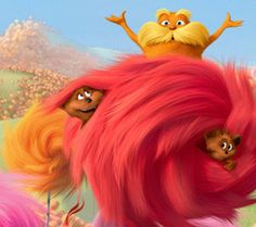 The Lorax // I didn't expect to enjoy this movie as much as I did. The Lorax, Disney Cartoons, Disney Movies, Dr Seuss Illustration, Ceiling Art, Dr Suess, Universal Pictures, Good Movies, Movies And Tv Shows