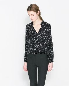 POLKA DOT PRINTED BLOUSE from Zara