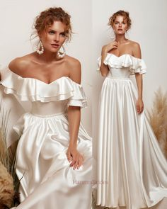 Wedding Dress With Veil, Dream Wedding Dresses, Bridal Dresses, Wedding Gowns, Bridesmaid Dresses, Satin Dresses, Sexy Dresses, Prom Dresses, Formal Dresses