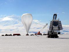 Před startem balónu v projektu BLAST