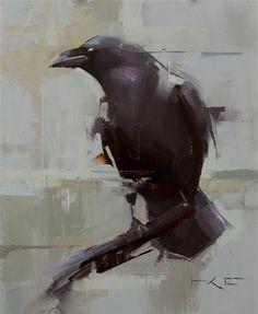 "Daily Paintworks - ""Raven 8"" - Original Fine Art for Sale - © Thorgrimur Andri Einarsson"