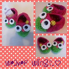 Weaver wings crochet Slippers on sale for girl. Weaverwings@gmail.com