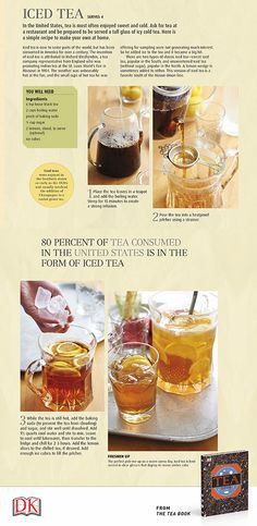 It's National Iced Tea Day! Here's a recipe from The Tea Book that is cold, sweet, and refreshing...makes you want to sip this while enjoying a cool summer breeze from your porch!