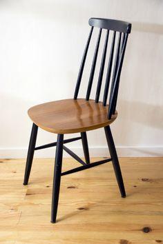 Sillas on pinterest fritz hansen chairs and hans wegner for Silla escandinava