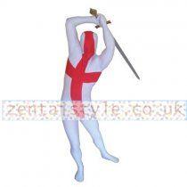 Lycra Spandex England Flag Zentai Suit