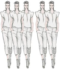 Illusion is a huge part of fashion today.In this picture,the layered pants gives the illusion of a longer waist and the heels height which gains her a good 5 inches of height.In the modeling world,taller is beautiful.