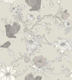 Botanica by byracka, beige, wallpaper - Photowall