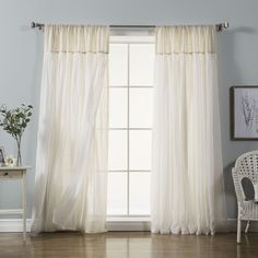 You'll love the Vidalia Solid Semi-Sheer Rod Pocket Curtain Panels at Wayfair - Great Deals on all Décor & Pillows products with Free Shipping on most stuff, even the big stuff.