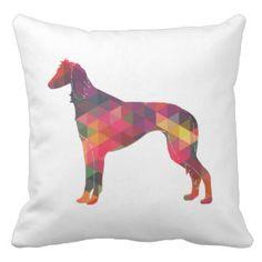 Saluki Geometric Pattern Silhouette Pillows