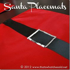 Santa Placemats--No Sew!