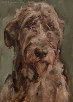 Irish Wolfhound by Kathleen Coy Oil ~ 7 x 5