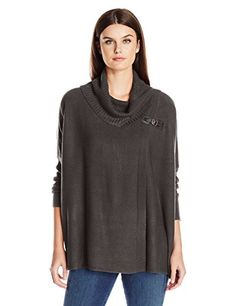 Napa Valley Womens Cashmerlon 34 Sleeves Buckle Cowl Pullover Poncho Sweater Plum SmallMedium -- You can find more details by visiting the image link. Poncho Sweater, Pullover Sweaters, Cute Woman, Cowl, Heather Grey, Cool Things To Buy, Sweaters For Women, Turtle Neck, Graphic Sweatshirt