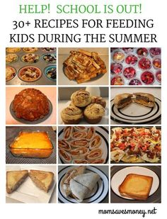 It's summer break! Are you ready for kids to be home & make meals every day? Here's 30+ easy breakfast, lunch and dinner recipes that kids will love! Easy Summer Dinners, Summer Snacks, Lunch Snacks, Summer Recipes, Easy Meals, Kid Snacks, Summer Food, Kid Recipes, Fun Easy Recipes