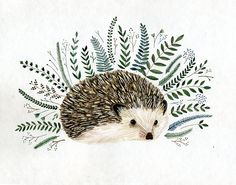 Hedgies are another one of my favorite ani-pals! This is very cute. Looks like the painting was done by an artist named Yelena Brysenkova. Repinned from Kelley W.