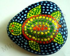 aboriginal art :: This art project rocks., I can do this to my lucky bean from Galveston