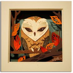 Love it! paper #owls