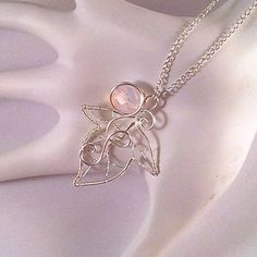 Ivy Leaf Elven Pendant at JewelryLessons.com | Learn how to make your own precious jewelry - FREE tutorials, lessons & articles!