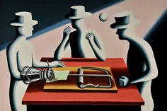 "Mark Kostabi ""Art of the Deal Iron Fist"" serigraph"