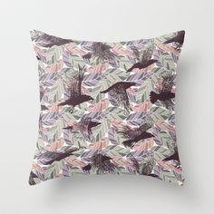 Ulha Falling Crows P/G Throw Pillow by rikki velez - $20.00