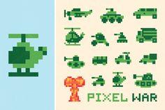 Pixel war set by #FOTUSART on Creative Market