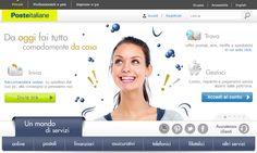 Nuova grafica www.poste.it.  Home page Privati