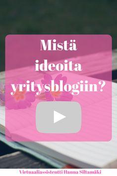 Mistä ideoita yritysblogiin? Jos mietit mitä seuraavaksi kirjoittaisit blogiin, tässä sinulle vinkki!  #yritys #yrittäjä #blogi #idea #mistä #ideoita #yritysblogiin #yritysblogi