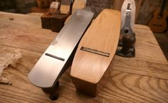 The shortest of metal planes is still long compared to even a large wooden coffin smoother. Wooden smoothers are available in very tiny sizes and leave a lovey burnished surface.