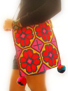 Wayuu Mochila bag Huichol carry art in a bag, shaman bag NO Photoshop | Flickr - Photo Sharing!