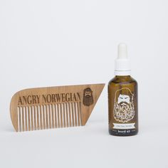 PRE-SALES: Beard oil and Wooden Comb Bundle - 50 ml via Angry Norwegian. Click on the image to see more!
