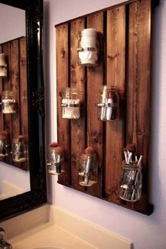 pallet bathroom cabinet - Google Search
