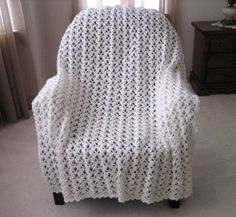 Marshmallow fluff afghan (pattern) by Roseanna Beck in FaveCrafts.com