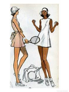 Tennis Dress Patternmaking Illustration