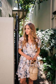 Gal Meets Glam Floral Wrap Dress -Ralph Lauren Denim & Supply dress & Doen bag