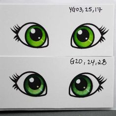 Colouring Eyes with Copics - several different colored eyes - need to use for making my copic manual notebook bjl