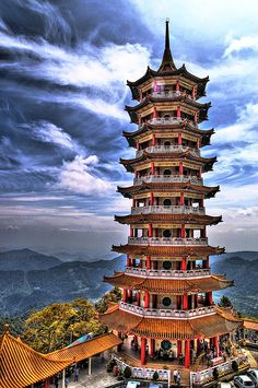 Chinese Pagoda by Kenji Images Indian Temple Architecture, Asian Architecture, Places Around The World, Around The Worlds, Chinese Pagoda, China Art, Chinese Culture, Beautiful Places, Amazing Places