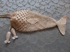Crocheted fish bag by Dawn Holbrook