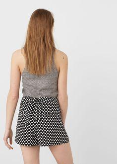 Printed shorts   MANGO