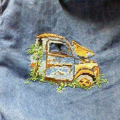This one is my favorite, did this last year on my denim shirt