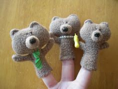 Obsessively Stitching: Goldilocks & the 3 Bears Finger Puppets -- TUTORIAL