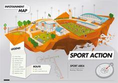 Infotainment Map by Royyan Arianto, via Behance