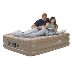 queen size air bed inflatable mattress  Pump Camping indoor portable automatic  #airbed