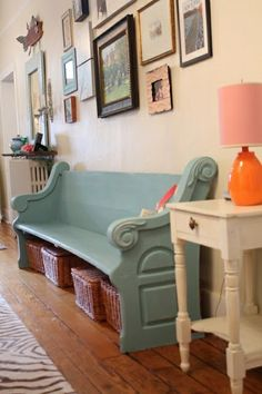 Church pew for sitting area in your foyer, genius.