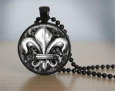 Glass Tile Necklace Steampunk Necklace Brass by bluerosebeadery