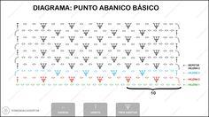 DIAGRAMA: PUNTO ABANICO ~ PATRONES VALHALLA // Patrones gratis de ganchillo