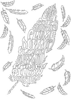 Creative Haven NATURE WHIMSY A WORDPLAY Coloring Book By Jessica Mazurkiewicz Page 2
