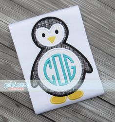 Made for Monogram Winter Penguin Appliqué Design by pickandstitch