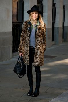 3 trends at once: animal mineral and vegetable...Photos: Best-Dressed Street Style at London Fashion Week Fall 2013 | Vanity Fair